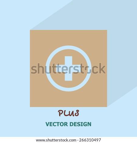Plus icon. vector design. - stock vector
