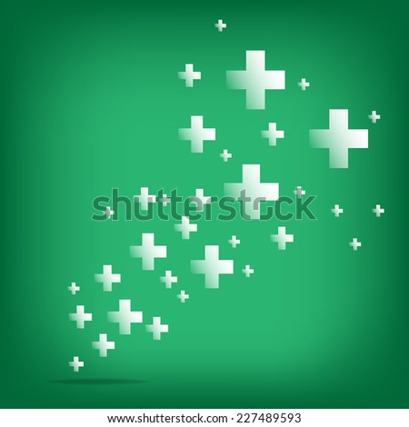 Plus sign.Positive thinking.Vector illustration design. - stock vector
