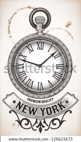 Pocket clock - stock vector