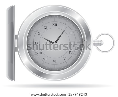 pocket watch vector illustration isolated on white background - stock vector
