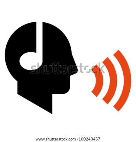 Podcaster icon - stock vector