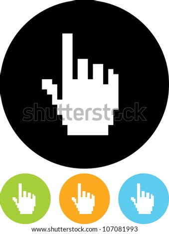 Pointer hand - Vector icon isolated - stock vector