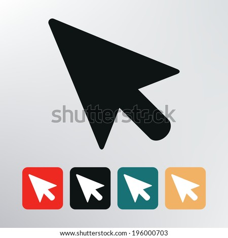 pointer icon. - stock vector