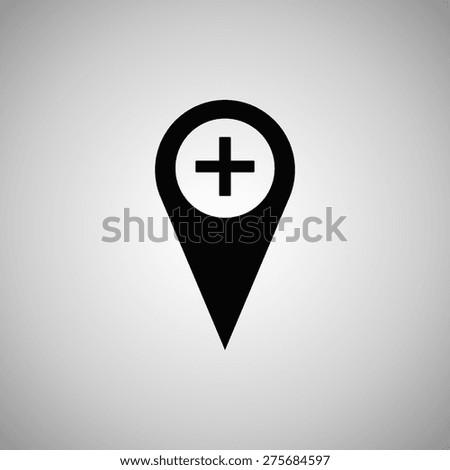 Pointer icon. Flat design style... - stock vector