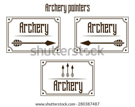 Pointers archery vector illustration - stock vector