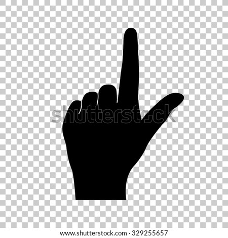 pointing finger vector icon - black illustration - stock vector