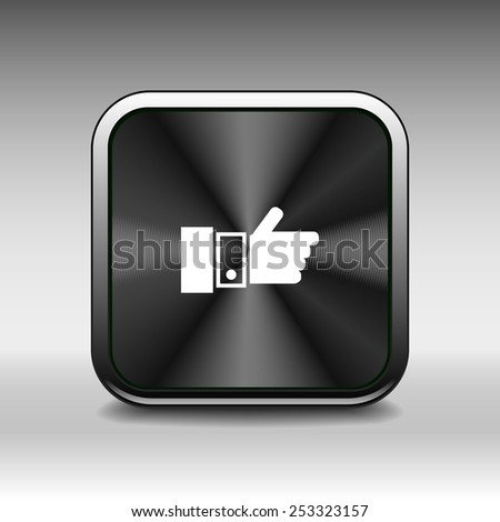 Pointing hand icon vector hand  finger pointer touch click - stock vector