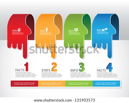 Pointing Hands Infographic Element. EPS 8 vector, grouped for easy editing. No open shapes or paths. - stock vector