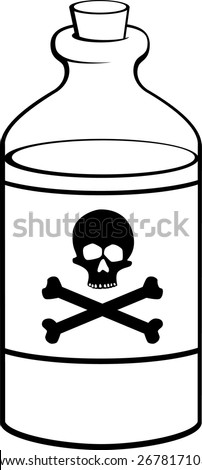 poison bottle - stock vector