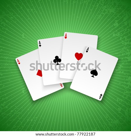 Poker aces. Vector background. Eps10 - stock vector