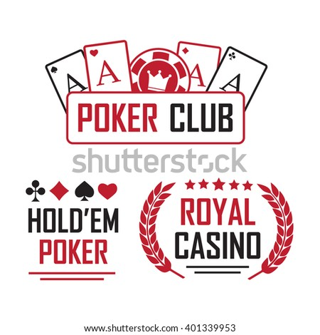 Poker club and casino vector sign set - stock vector