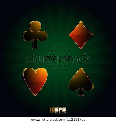 poker, vector illustration - stock vector