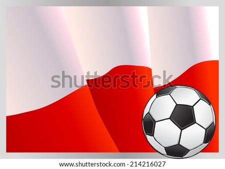 Poland flag and football vector - stock vector