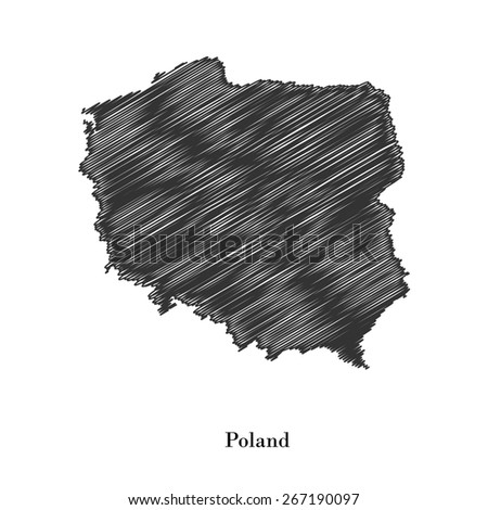 Poland map icon for your design, concept Illustration. - stock vector