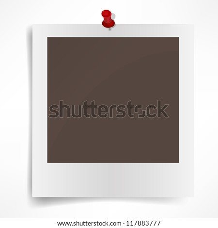 Polaroid photo frame isolated on white background. Vector illustration - stock vector