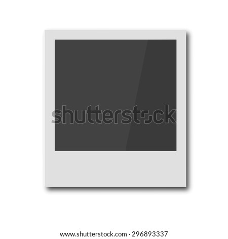 Polaroid retro photo frame. Vintage photoframe isolated on white background. Vector illustration EPS 8. For your business and design. - stock vector