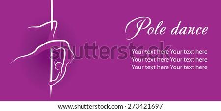 pole dance - stock vector