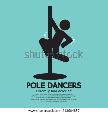 Pole Dancers Graphic Vector Illustration - stock vector