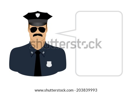police, avatars and User Icons - stock vector