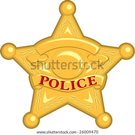 Police Badge - stock vector