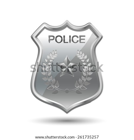 Police Badge isolated on white background - stock vector