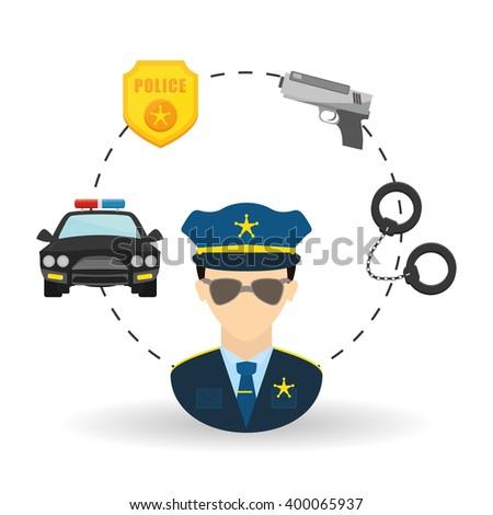 police icon design - stock vector