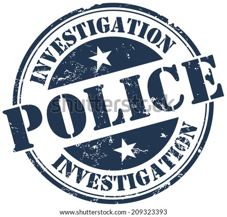 police investigation stamp - stock vector