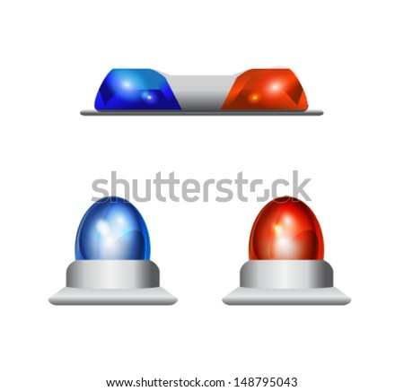 police lights - stock vector