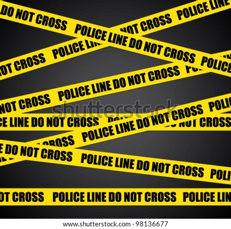 Police line. Do not cross. Vector crime scene background. - stock vector