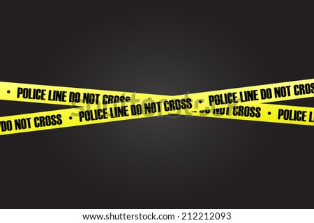 Police line with black background vector - stock vector