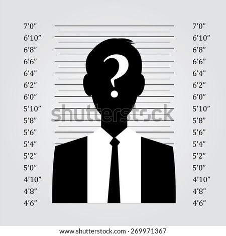 Police lineup or mugshot background with man,mugshot vector - stock vector
