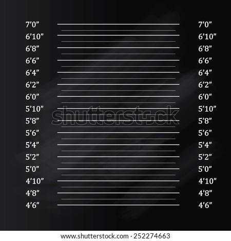 Police lineup or mugshot on chalkboard background,mugshot vector  - stock vector