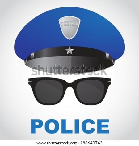 police officer selfie eps10 - stock vector