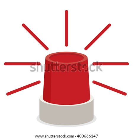 Police or ambulance red flasher siren icon.  - stock vector