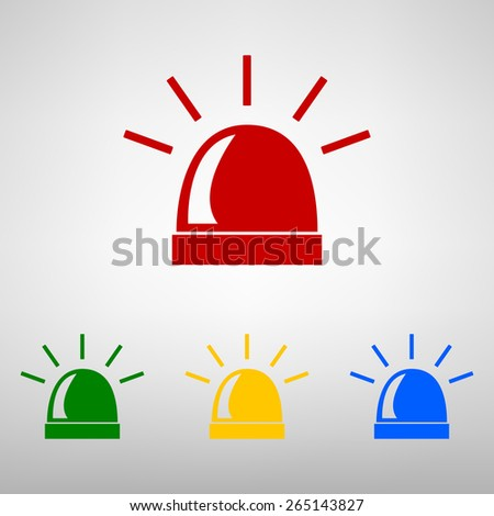 Police single black icon isolated. Vector - stock vector