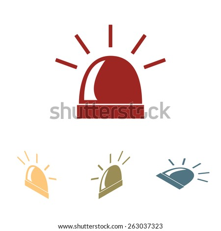 Police single black icon isolated. Vector. Flat isometric style - stock vector