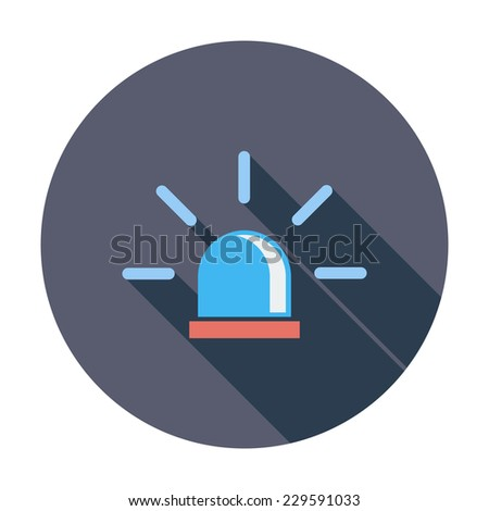 Police. Single flat color icon. Vector illustration. - stock vector