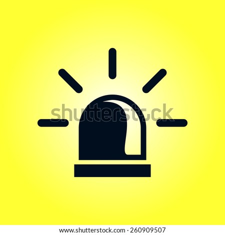 Police single icon. - stock vector