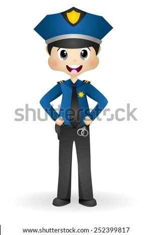 Policeman, Police Officer - stock vector