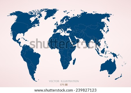 Political map of the world. Vector illustration - stock vector