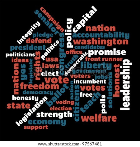 Political themed word graphic - stock vector