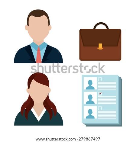 Politics design over white background, vector illustration. - stock vector