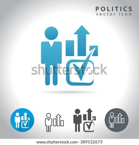 Politics icon set, collection voting symbols, vector illustration - stock vector