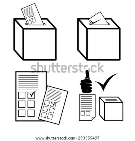 Politics, Voting and elections icons - stock vector