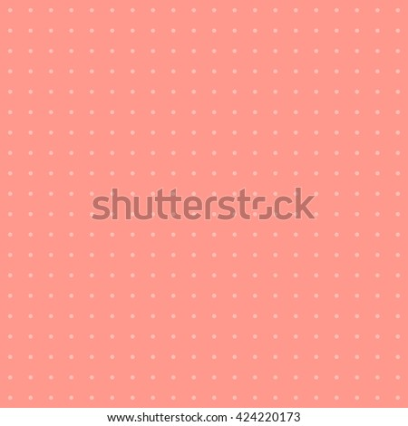 Polka dot pattern. Dots on pink background. - stock vector