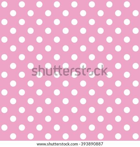 Polka dot pink vector seamless pattern  - stock vector