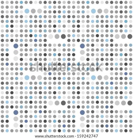 Polka dot seamless background - stock vector