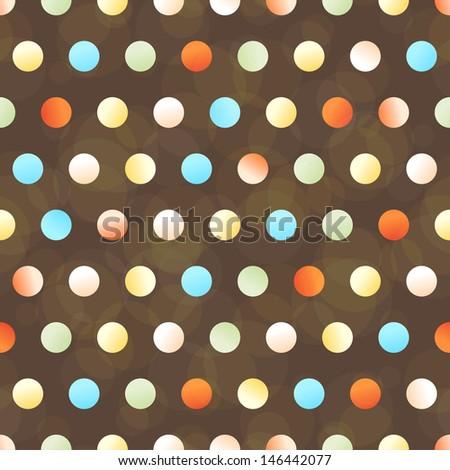 polka dot seamless background, vector illustration, eps10 - stock vector
