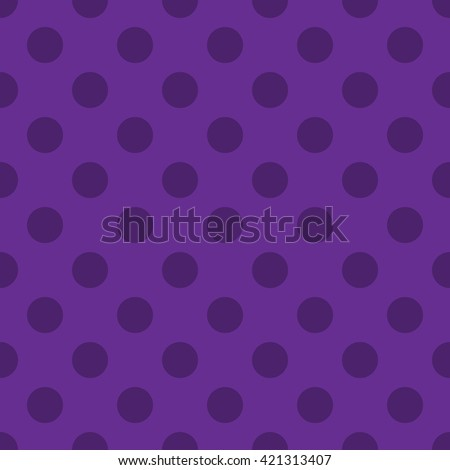 Polka dots seamless pattern. Purple circles retro texture. Abstract geometric modern design. Fashion graphic decor. Decorative background for wallpaper, textile, paper, wrapping. Vector Illustration. - stock vector