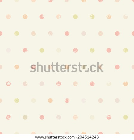 Polka dots vintage seamless pattern - stock vector